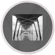 Under The Pier Round Beach Towel by Betty Buller Whitehead