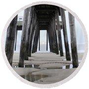 Under The Pier Round Beach Towel by Sharon Batdorf