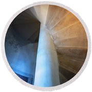 Under The Stairs Round Beach Towel