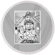 Underground Mine Workers In South Africa Round Beach Towel