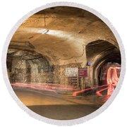 Underground Tunnels In Guanajuato, Mexico Round Beach Towel