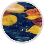 Underwater Colors Round Beach Towel