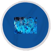 Underwater Expedition  Round Beach Towel