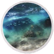 Underwater Round Beach Towel