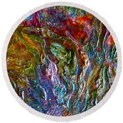 Underwater Seascape Round Beach Towel