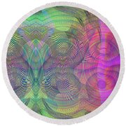 Underwater World I Round Beach Towel