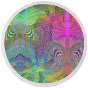 Underwater World II Round Beach Towel