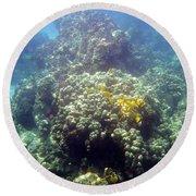 Underwater World Round Beach Towel