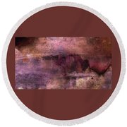 Unexpected Flight Into The Past Round Beach Towel by Lenore Senior