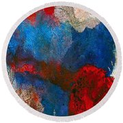 Anomaly Round Beach Towel by Lisa Kaiser