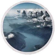 Round Beach Towel featuring the photograph Unfolding by Jim Hill