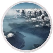 Cloud's Illusions Round Beach Towel