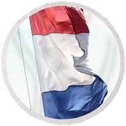 Round Beach Towel featuring the photograph Unfurl 03 by Stephen Mitchell