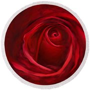 Unfurling Beauty II Round Beach Towel