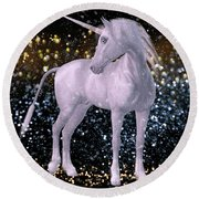 Unicorn Dust Round Beach Towel