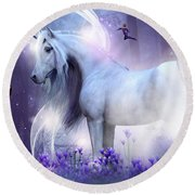 Unicorn Kisses Round Beach Towel