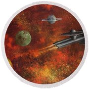 Unidentified Flying Object Round Beach Towel