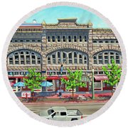 Union Block Building - Boise Round Beach Towel