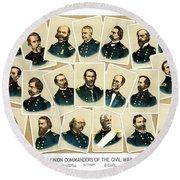 Union Commanders Of The Civil War Round Beach Towel