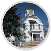 Union Evangelical Church Of Corona Round Beach Towel