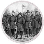 Union Generals Of The Civil War  Round Beach Towel