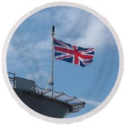 Union Jack Round Beach Towel by Richard Brookes