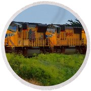 Union Pacific Line Round Beach Towel
