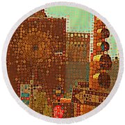 Union Square Bubbles Round Beach Towel
