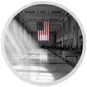 Union Station 2 - Kansas City Round Beach Towel by Mike McGlothlen