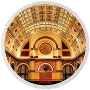Union Station Balcony Round Beach Towel