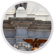 Union Station D C 5 Round Beach Towel by Randall Weidner