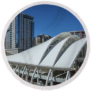 Union Station Open Air Train Hall Round Beach Towel