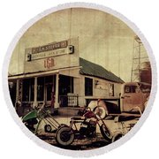Round Beach Towel featuring the photograph Unionville Genral Store by Joel Witmeyer