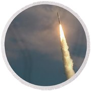 Round Beach Towel featuring the photograph United Alliance Atlas V by Norman Peay