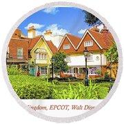 United Kingdom Buildings, Epcot, Walt Disney World Round Beach Towel