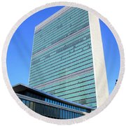 Round Beach Towel featuring the photograph United Nations 1 by Randall Weidner