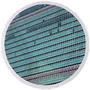Round Beach Towel featuring the photograph United Nations 2 by Randall Weidner
