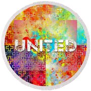 United Round Beach Towel