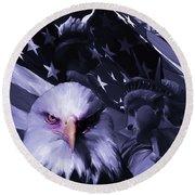 United States 001 Round Beach Towel