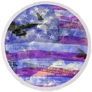 United States Armed Forces One Round Beach Towel