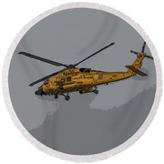 United States Coast Guard Helicopter Round Beach Towel