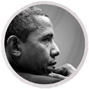 United States President Barack Obama Round Beach Towel