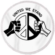 United We Stand Round Beach Towel by Joseph J Stevens
