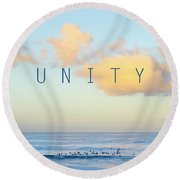 Unity. Round Beach Towel