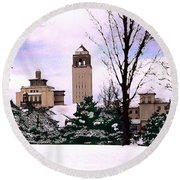 Round Beach Towel featuring the photograph Unity Village by Steve Karol