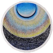 Universal Eye In Blue Round Beach Towel