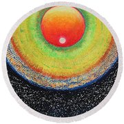 Universal Eye In Red Round Beach Towel