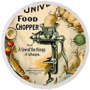 Universal Food Chopper 1897 Round Beach Towel by Padre Art