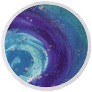 Universal Love Round Beach Towel