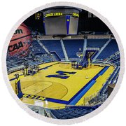University Of Michigan Basketball Round Beach Towel